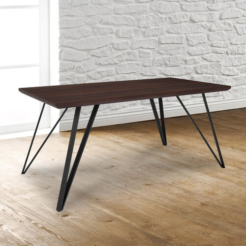 """Our Corinth 31.5"""" x 63"""" Rectangular Dining Table in Dark Ash Finish is on sale now."""