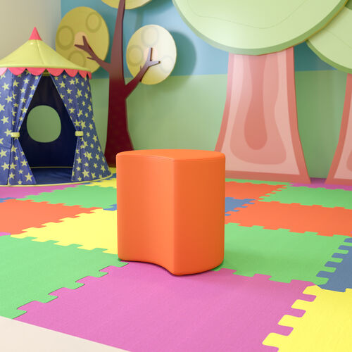 """Soft Seating Collaborative Moon for Classrooms and Common Spaces - 18"""" Seat Height (Orange)"""