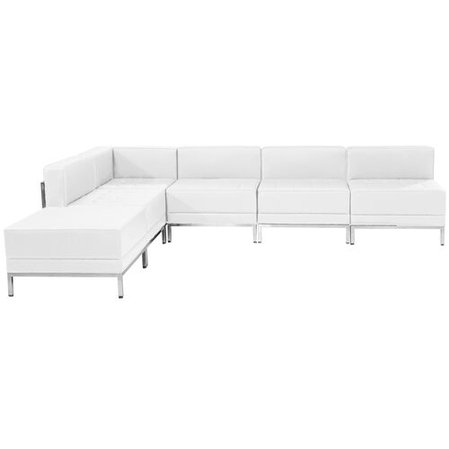 Our HERCULES Imagination Series Melrose White Leather Sectional Configuration, 6 Pieces is on sale now.