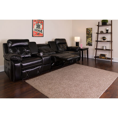 Our Reel Comfort Series 3-Seat Reclining LeatherSoft Theater Seating Unit with Straight Cup Holders is on sale now.