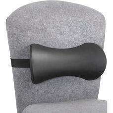 Memory Foam Lumbar Support Backrest with Adjustable Strap - Set of Five - Black