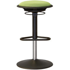 Jax Mesh Stool with Footrest and Round Seat - Green