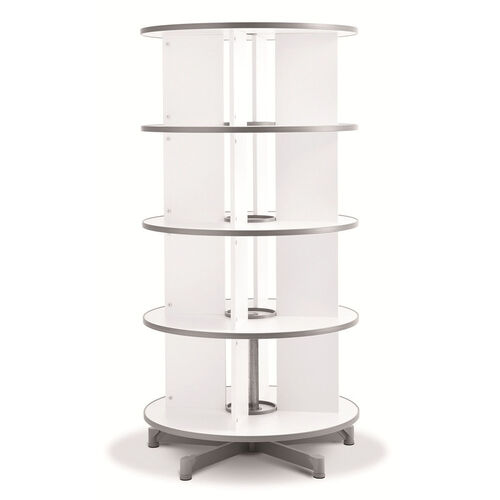 Moll 4 - Tier Spin N File Rotary Binder Storage Carousel for Letter Sized Materials - White