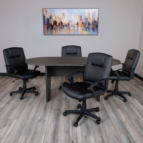 Our 5 Piece Oval Conference Table Set with 4 LeatherSoft-Padded Task Chairs is on sale now.