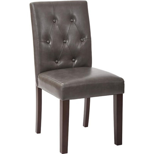 Our OSP Designs 7 Button Dining Chair - Pewter Deluxe Bonded Leather is on sale now.