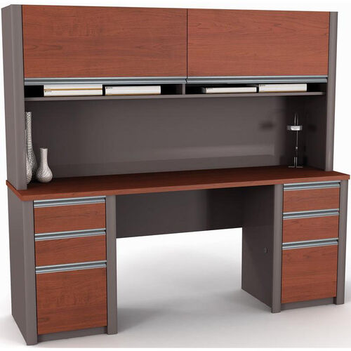 Our Connexion Credenza and Hutch Kit with Storage Drawers and Keyboard Drawer - Slate is on sale now.