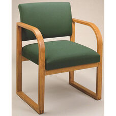 Contour Series Open Back Guest Chair with Sled Base