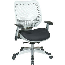 Space REVV Self Adjusting SpaceFlex Back and Mesh Seat Managers Chair with Adjustable Arms - Ice Back and Raven Seat