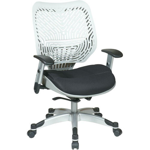 Our Space REVV Self Adjusting SpaceFlex Back and Mesh Seat Managers Chair with Adjustable Arms - Ice Back and Raven Seat is on sale now.