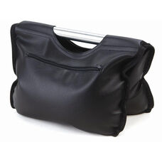 Black Vinyl Goal Ballast Bag with 70 lb. Capacity