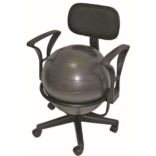 Our CanDo® Metal Frame Mobile Ball Chair with Back and Arms is on sale now.