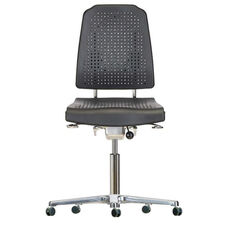 Aklaim Flagship Series Black Task Chair with Ergonomic Upholstery and Star Base with Self-Braking Casters - Low Profile
