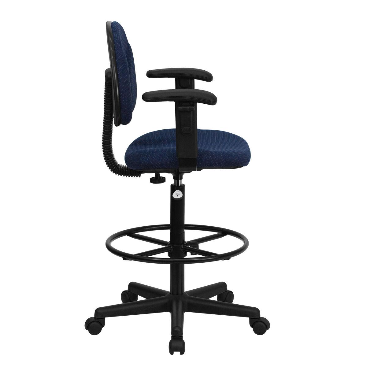 Emb Navy Fabric Draft Chair Bt 659 Nvy Arms Gg Bizchair Com