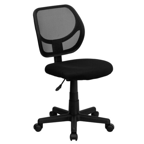Our Low Back Black Mesh Swivel Task Office Chair with Curved Square Back is on sale now.