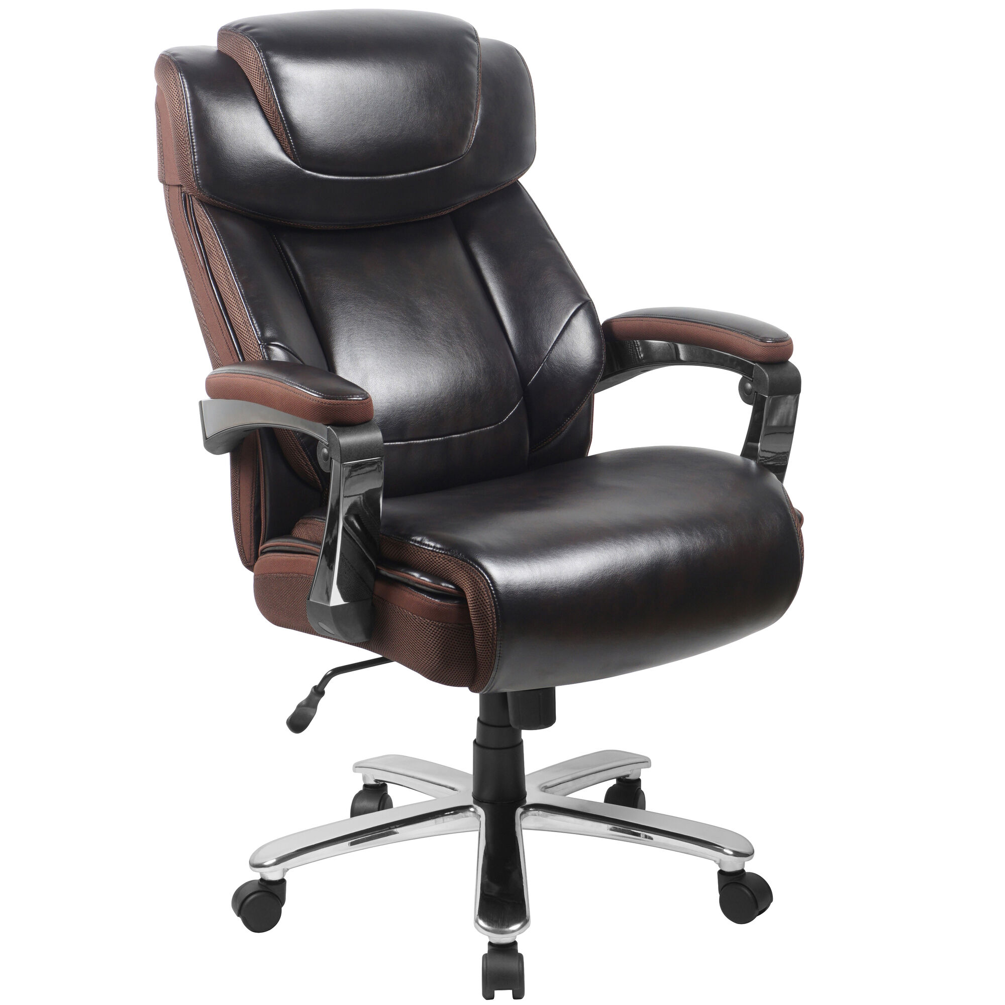 Fine Big Tall Office Chair Brown Leathersoft Executive Swivel Office Chair With Headrest And Wheels Gmtry Best Dining Table And Chair Ideas Images Gmtryco