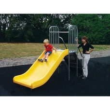 Powder Coat Paint Finished Junior Play Slide with Sturdy Steel Steps and Bright Yellow Finished Polyethylene Slide - 36