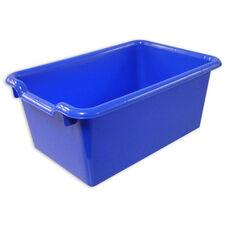 Versatile Scoop Front Plastic Storage Bins - Blue - 11.5