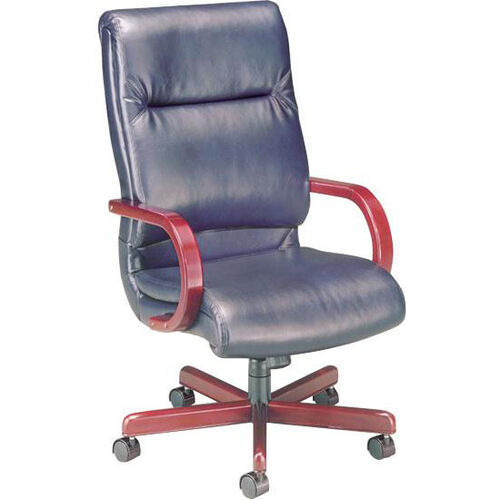 Quick Ship 1200 Series Executive Swivel Chair with Wood Arms
