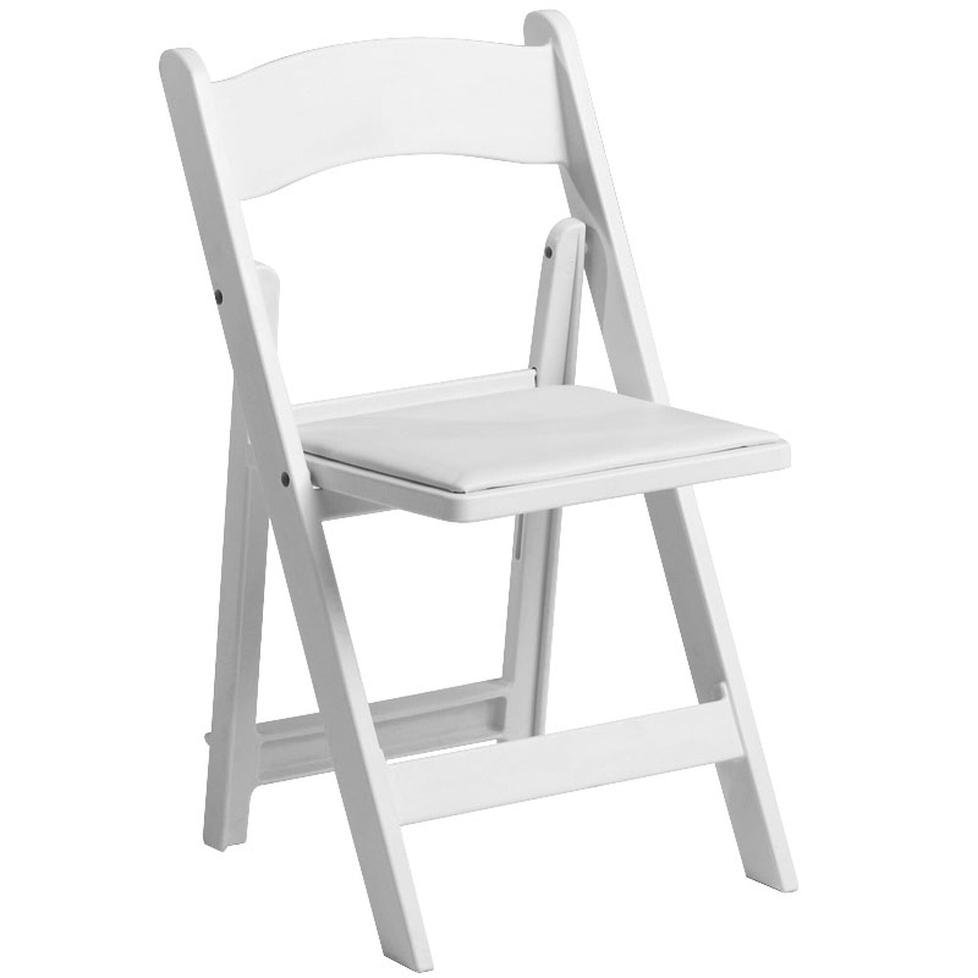 White resin folding chairs - Max White Resin Folding Chair Hover To Zoom