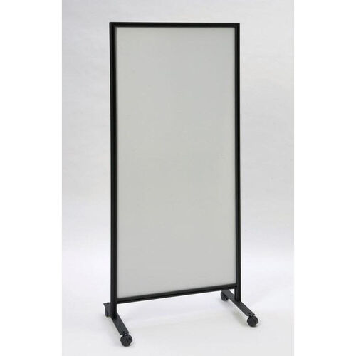 490 Series Mobile Double Sided Markerboard with Black Powder Coated Aluminum Frame - 30