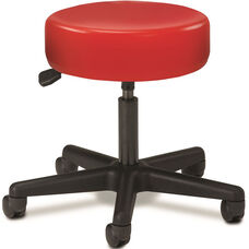 Pneumatic Adjustable Medical Stool - Tomato with Black Base