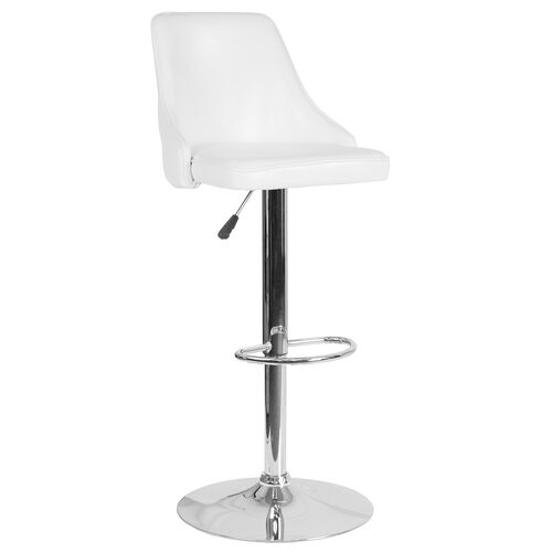 Our Trieste Contemporary Adjustable Height Barstool in White LeatherSoft is on sale now.