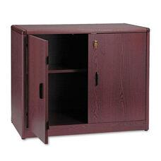HON® 10700 Series Locking Storage Cabinet - 36w x 20d x 29 1/2h - Mahogany