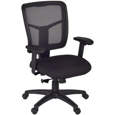 Kiera Height Adjustable Mesh Back Swivel Chair with Casters - Black