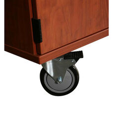 Transporter Storage Cabinet with 5 Adjustable Shelves with 2 Locking & 2 Non-Locking Casters - 36