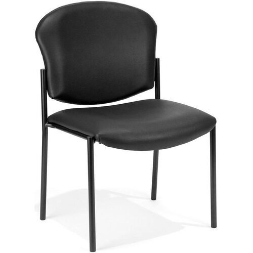 Our Manor Anti-Bacterial and Anti-Microbial Vinyl Guest and Reception Chair - Black is on sale now.