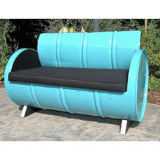 Stormy Mountain Steel Drum Loveseat with Black Accents