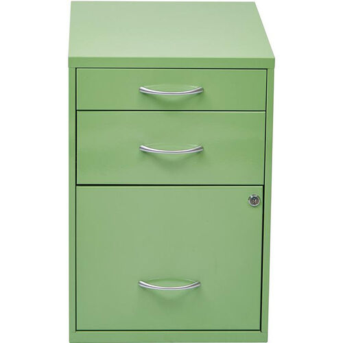Our OSP Designs 3-Drawer Storage Cabinet with Locking Filing Drawer - Green is on sale now.