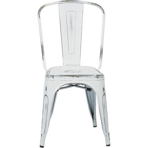 Our OSP Designs Bristow Stackable Armless Metal Chair - Set of 4 - Antique White is on sale now.