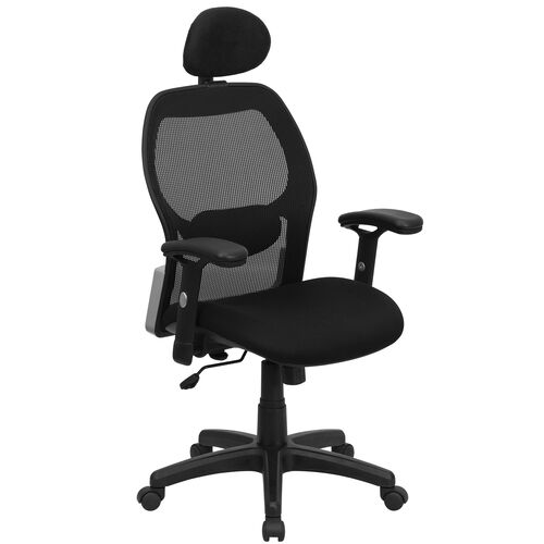 Our High Back Black Super Mesh Executive Swivel Office Chair with Adjustable Lumbar & Arms is on sale now.