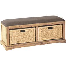 OSP Designs Sheridan Storage Bench - Distressed Toffee