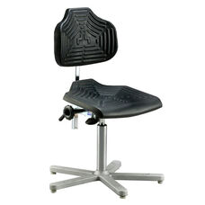 Brio 12 Series Height Adjustable Task Chair with Cushioned Seat and Star Base with Glides - Low Profile