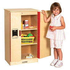 Birch Play Kitchen Refrigerator with Three Easy to Reach Interior Shelves