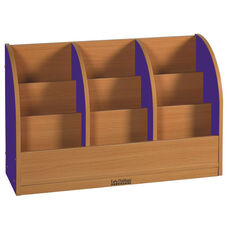 Color Essentials Single Sided Toddler Laminate Book Stand with Blue Side Panels