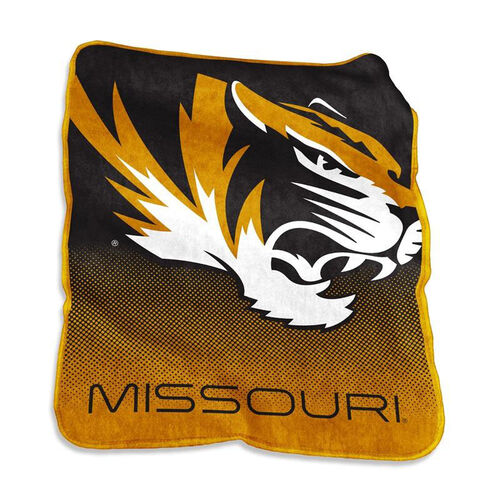 Our University of Missouri Team Logo Raschel Throw is on sale now.
