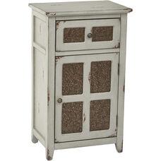 Inspired By Bassett Kenworth Hand Painted Storage Cabinet - Antique Grey