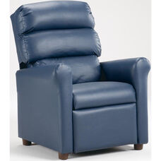Kids Vinyl Recliner with Waterfall Back - Navy