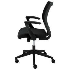 Basyx® VL521 Series Mid-Back Work Chair - Mesh Back - Fabric Seat - Black