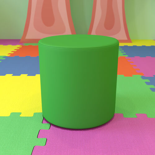 """Soft Seating Collaborative Circle for Classrooms and Common Spaces - 18"""" Seat Height (Green)"""