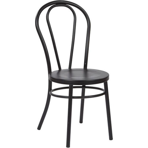 Our OSP Designs Odessa Metal Dining Chair with Backrest - Set of 2 - Solid Black is on sale now.