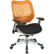 Space REVV Self Adjusting SpaceFlex Back and Mesh Seat Managers Chair with Adjustable Arms - Tang