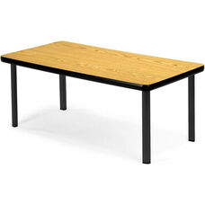 Magazine Table with Four Black Legs - Oak