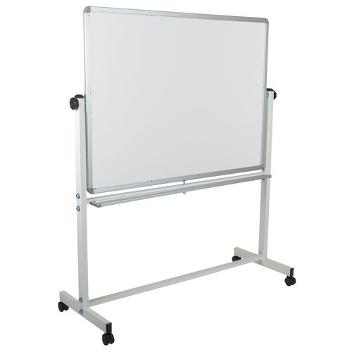 """Our HERCULES Series 53""""W x 62.5""""H Double-Sided Mobile White Board with Pen Tray is on sale now."""