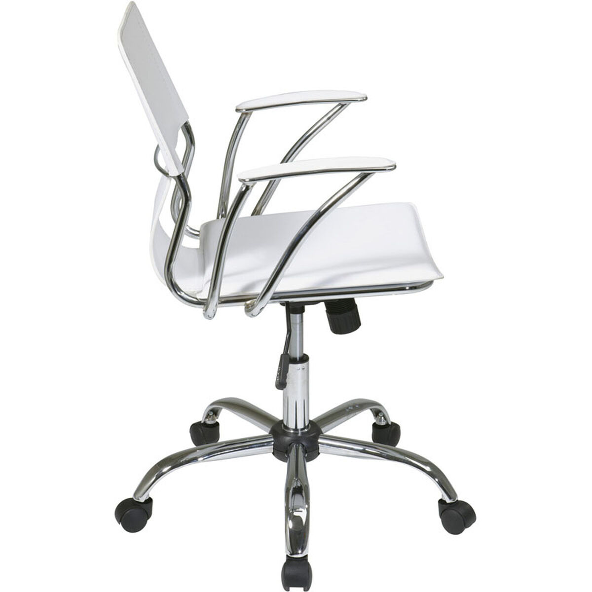 Our Ave Six Dorado Contour Seat And Back Vinyl Office Chair With Heavy Duty Chrome Base