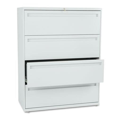 Our HON® 700 Series Four-Drawer Lateral File - 42w x 19-1/4d - Light Gray is on sale now.