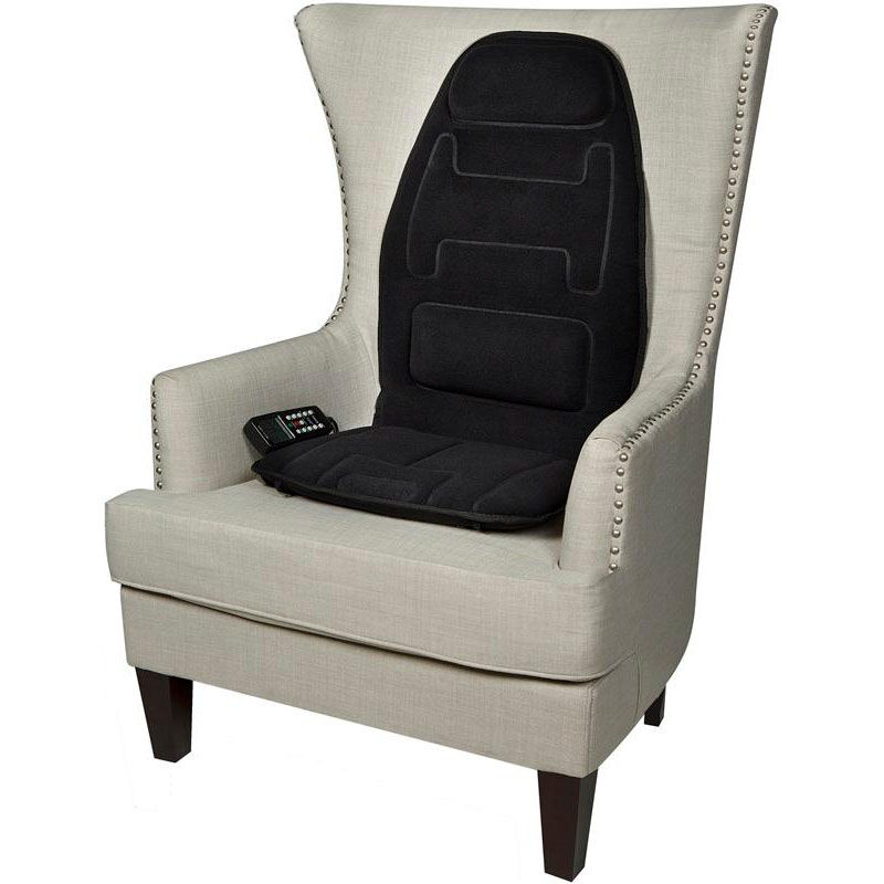 ... Our Relaxzen 10 Motor Massage Seat Cushion With Heat And Extra Foam    Black Is
